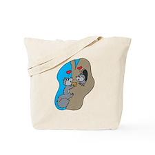 Cute Squirrels in Love Tote Bag