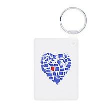Arizona Heart Keychains