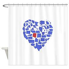 Arizona Heart Shower Curtain