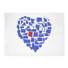 Arizona Heart 5'x7'Area Rug