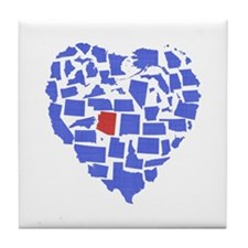 Arizona Heart Tile Coaster