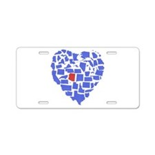 Arizona Heart Aluminum License Plate