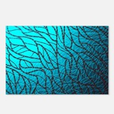 Teal Abstract Postcards (Package of 8)