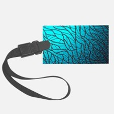 Teal Abstract Luggage Tag