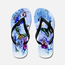 Take Flight Butterfly Orchid Flip Flops