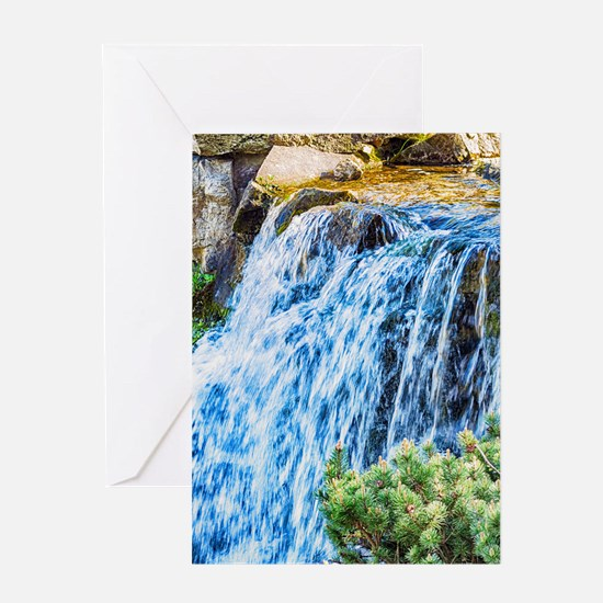 Small Waterfall Greeting Cards