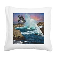 Pelican Bay Square Canvas Pillow