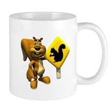 Squirrel Crossing Sign Squirrel Mug