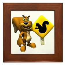Squirrel Crossing Sign Squirrel Framed Tile