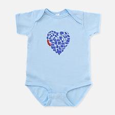 California Heart Infant Bodysuit
