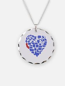 California Heart Necklace