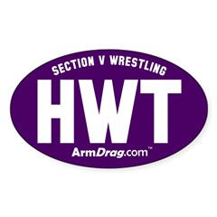 HWT Purple Oval Decal