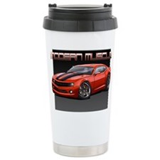 Cool Orange stripes Travel Mug