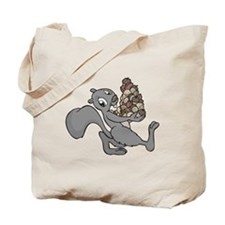Squirrel with Lots of Nuts Tote Bag