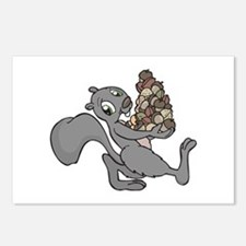 Squirrel with Lots of Nuts Postcards (Package of 8