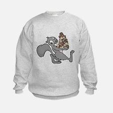 Squirrel with Lots of Nuts Sweatshirt
