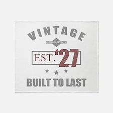 Vintage 1927 Birth Year Throw Blanket