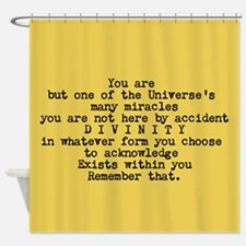 You Are A Miracle Shower Curtain - Ochre Yellow