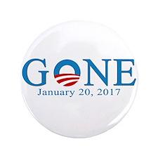 "Obama Gone 2017 3.5"" Button"