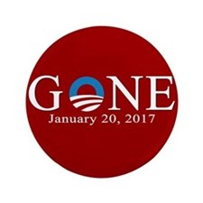 "Obama Gone 2017 3.5"" Button"
