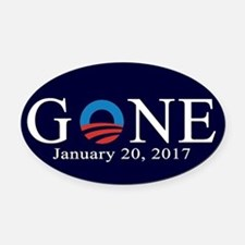 Obama Gone 2017 Oval Car Magnet