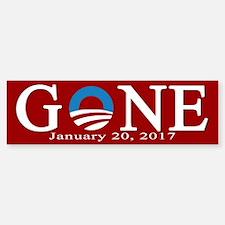 Barack Obama Gone Bumper Bumper Bumper Sticker