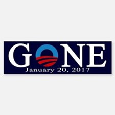 Barack Obama Gone Bumper Car Car Sticker