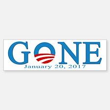 Barack Obama Gone Bumper Car Car Sticker