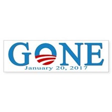 Barack Obama Gone Bumper Car Sticker