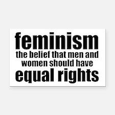 Feminist Rectangle Car Magnet