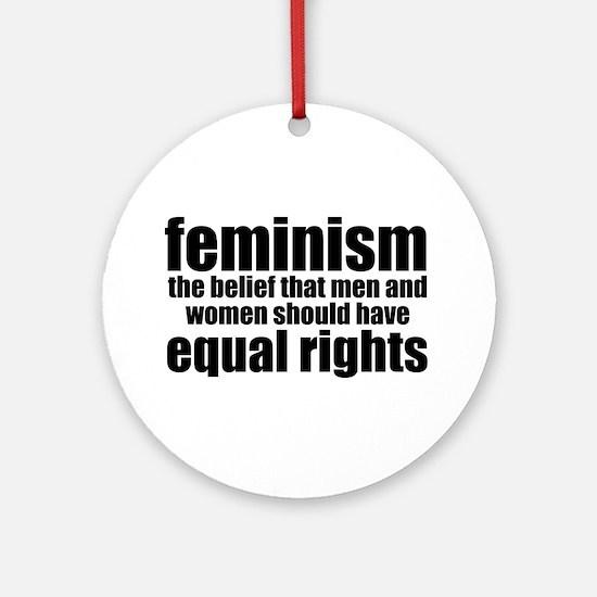 Feminist Ornament (Round)