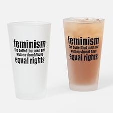 Feminist Drinking Glass