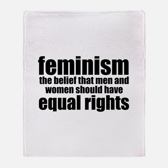 Feminist Throw Blanket