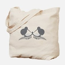 Two silver ferns and kiwi birds Tote Bag
