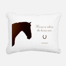 Horse Design by Chevalin Rectangular Canvas Pillow