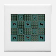 Horse Design by Chevalinite Tile Coaster