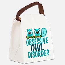 Pretty Owl Canvas Lunch Bag