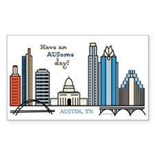 Have An Ausome Day! Austin Texas Skyline Decal