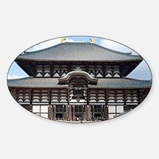 T�dai-ji Daibutsuden Sticker (Oval)