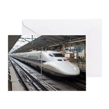 Bullet train Greeting Card