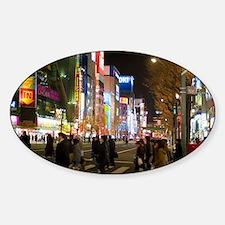 akihabara at night Decal