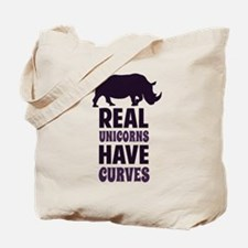 Real Unicorns Have Curves Tote Bag