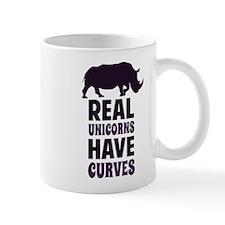 Real Unicorns Have Curves Mugs