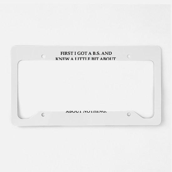 phd joke License Plate Holder