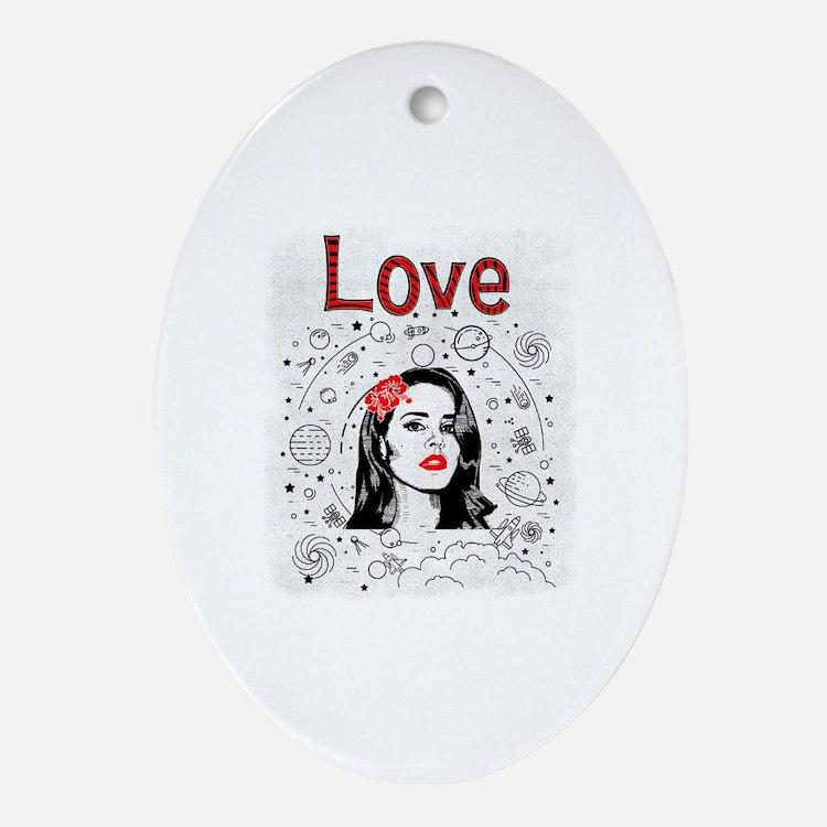 Cute Lana Oval Ornament