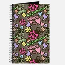 Peace, Love, Ladybugs Pattern Journal