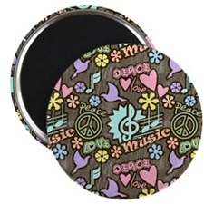 Peace, Love, Music Magnets