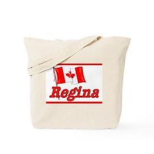 Canada Flag - Regina Text Tote Bag