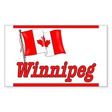 Canada Flag - Winnipeg Text Rectangle Decal