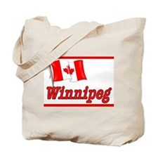 Canada Flag - Winnipeg Text Tote Bag